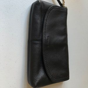 Black Coach clutch bag